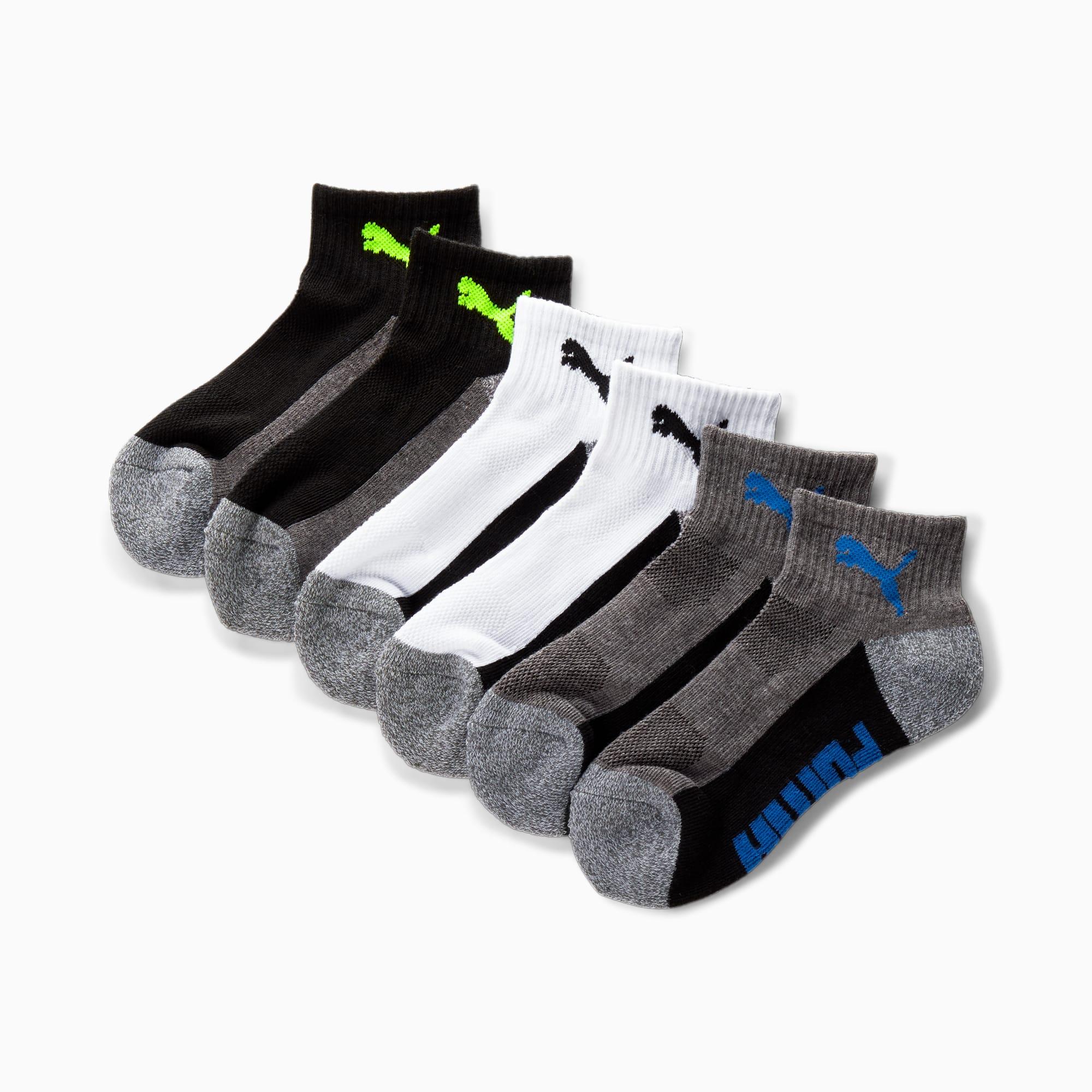Boys' Quarter Crew Socks [6 Pack]